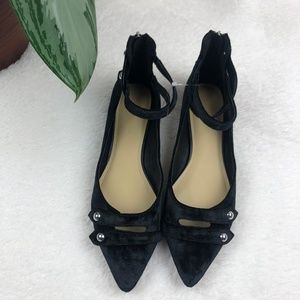 NEW Marc Fisher Alie Black Velvet Mary Jane Flats